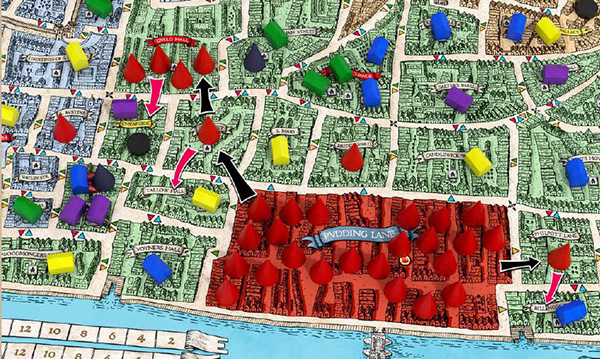 Great Fire Of London Map.Medusa Games About Great Fire Of London